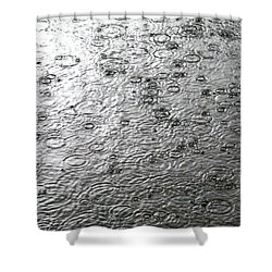 Black And White Rain Shower Curtain
