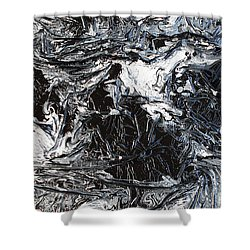 Black And White Series 3 Shower Curtain