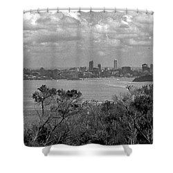 Shower Curtain featuring the photograph Black And White Sydney by Miroslava Jurcik