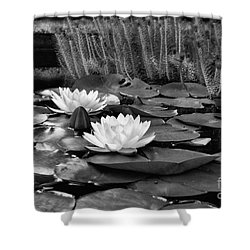 Shower Curtain featuring the photograph Black And White Version by John S