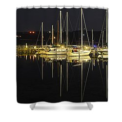 Black As Night Shower Curtain by Frozen in Time Fine Art Photography