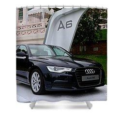 Black Audi A6 Classic Saloon Car Shower Curtain