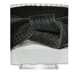 Black Belt Shower Curtain