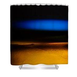 Black Blue Yellow Shower Curtain by Bob Orsillo