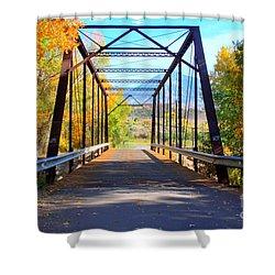 Black Bridge Shower Curtain