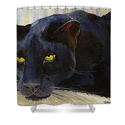 Black Cat Shower Curtain