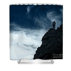 Shower Curtain featuring the photograph Black Cliff by Dana DiPasquale