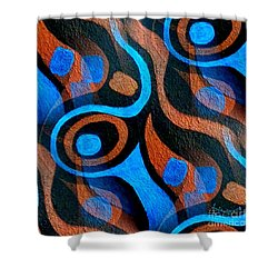 Black Coffee Abstract Shower Curtain