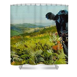 Black Cow Dartmoor Shower Curtain
