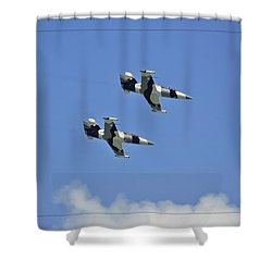 Shower Curtain featuring the photograph Black Diamonds In The Sky by DigiArt Diaries by Vicky B Fuller