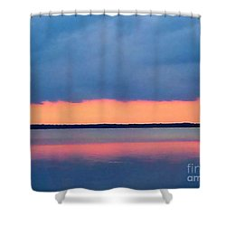 Black Hammock Sunset 2 Shower Curtain