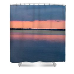 Black Hammock Sunset Shower Curtain