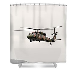 Black Hawk  Shower Curtain