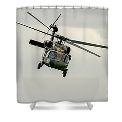 Black Hawk Swoops Shower Curtain by Ray Warren