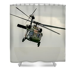 Black Hawk Swoops Shower Curtain