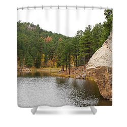 Black Hills Lake Shower Curtain by Mary Carol Story