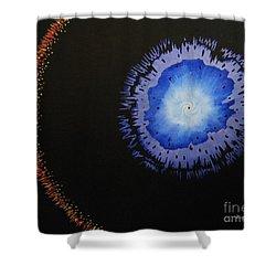Black Hole Shower Curtain by Lori Ziemba
