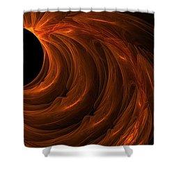 Black Hole Shower Curtain by Lourry Legarde