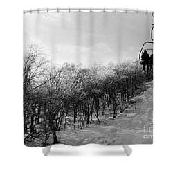 Black Ice Shower Curtain