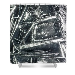 Shower Curtain featuring the photograph Black Ice by Jane Ford