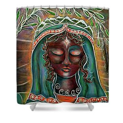 Peace - Black Madonna Shower Curtain