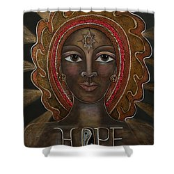 Hope - Black Madonna Shower Curtain