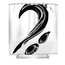 Black Magic 300 - Black And White Art Shower Curtain by Sharon Cummings