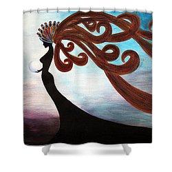 Black Magic Woman Shower Curtain by Jolanta Anna Karolska