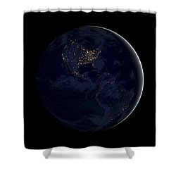 Black Marble Shower Curtain by Adam Romanowicz
