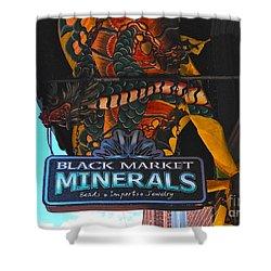 Black Market Minerals Shower Curtain