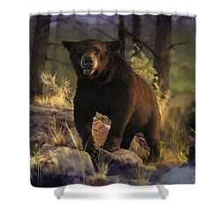 Shower Curtain featuring the painting Black Max by Rob Corsetti