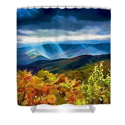 Black Mountains Overlook On The Blue Ridge Parkway Shower Curtain