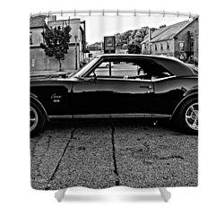 Black Muscle Monochrome Shower Curtain by Steve Harrington