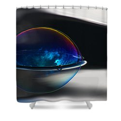 Black N Blue Shower Curtain by Cathie Douglas