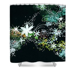Black N White Shower Curtain by Anil Nene
