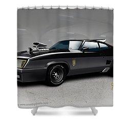 Black On Black Shower Curtain