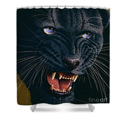 Black Panther 2 Shower Curtain by Jurek Zamoyski