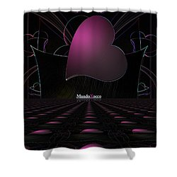 Black Pink Luv Line Shower Curtain