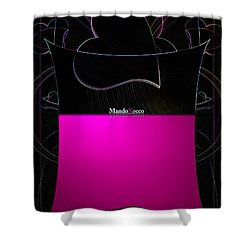 Black Pink Luv Shower Curtain