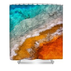 Black Pool 1 Shower Curtain