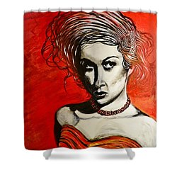 Black Portrait 20 Shower Curtain