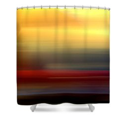 Black Red Yellow Shower Curtain by Terence Morrissey