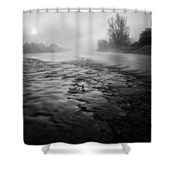 Black River Shower Curtain by Davorin Mance