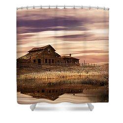 Black Sage Dawn Shower Curtain
