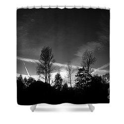 Black Sky Shower Curtain