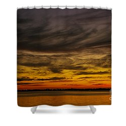 Black Sunset Shower Curtain