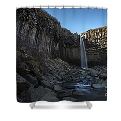 Black Waterfall Shower Curtain