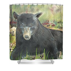Shower Curtain featuring the painting Blackberry Scruffy 2 by Jan Dappen