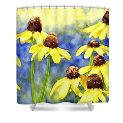 Blackeyed Beauties Shower Curtain