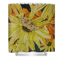 Blackeyed Susans And Butterfly Shower Curtain